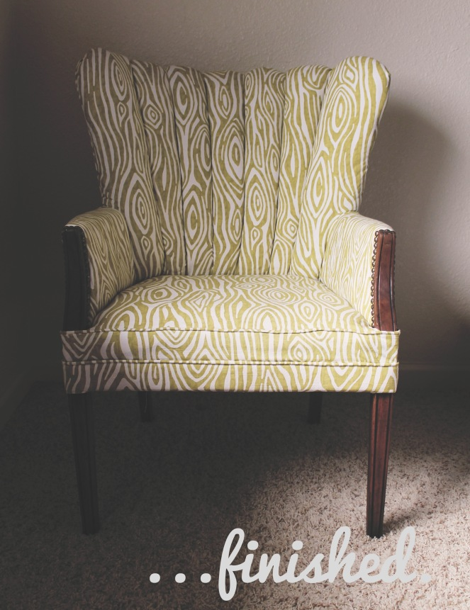 {finished} chair