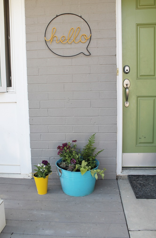{creating a little potted garden}all done