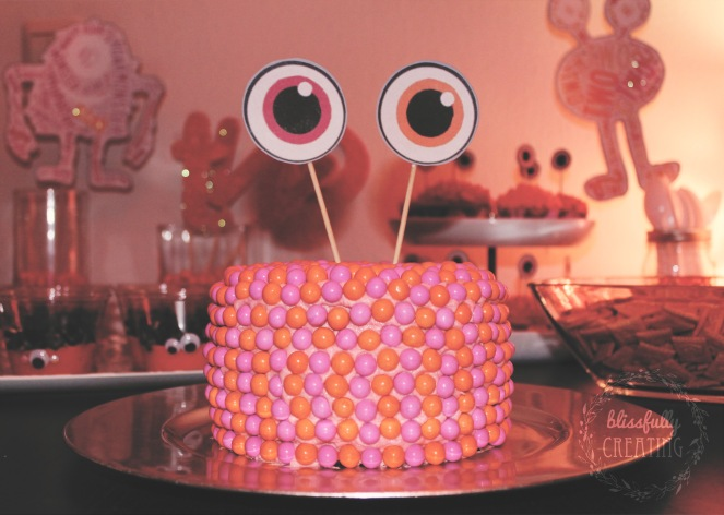 {monster cake} finished cake