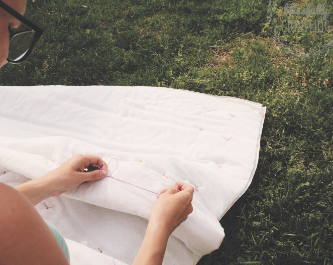 {favorite blanket rehab} tying