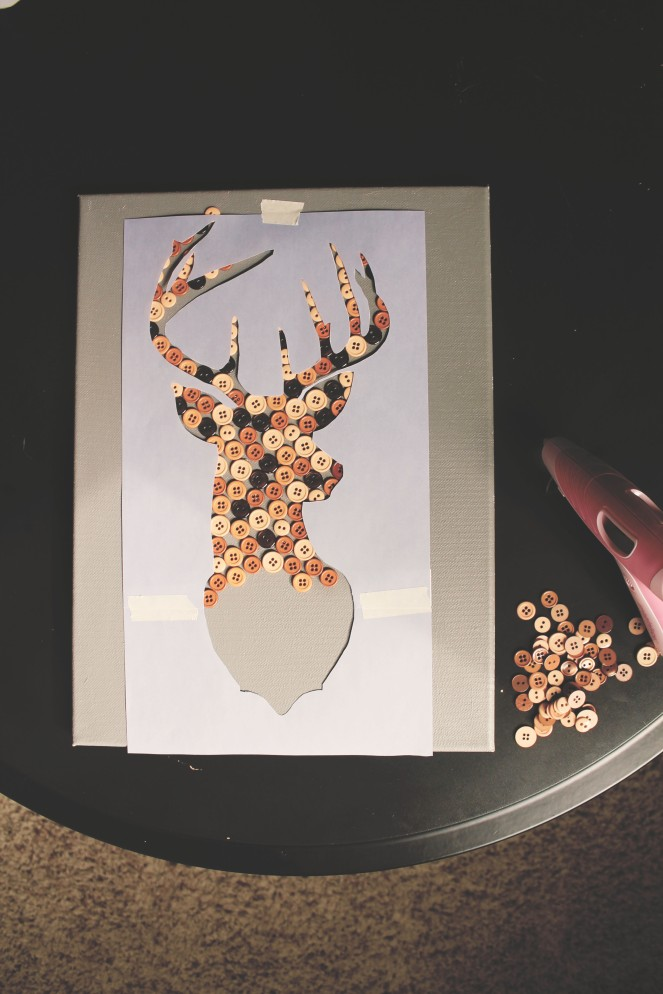 {creating button & string art} half stag
