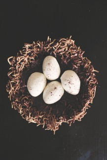 {creating birthday magic} marshmallow eggs