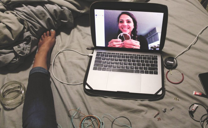 {creating long distance craft night} skyping