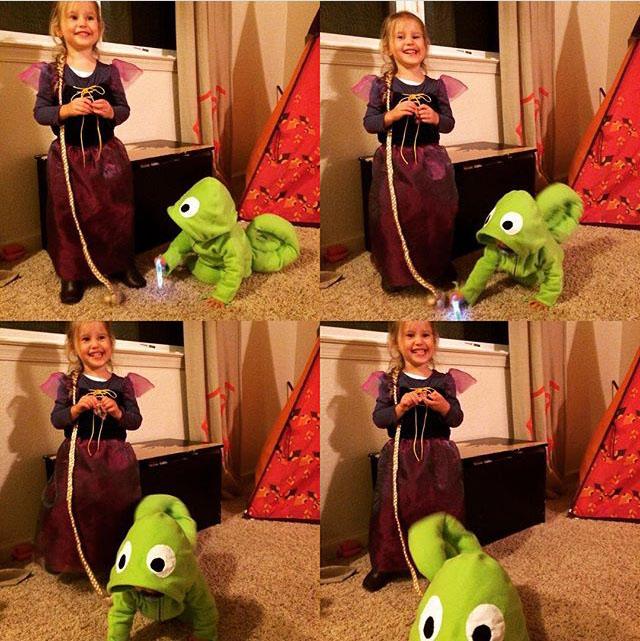 {creating halloween magic} rapunzel & pascal
