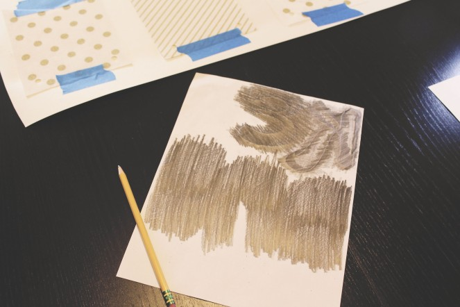 {crating personalized bunting} pencil rubbing
