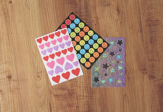 {creating candyless valentines} stickers