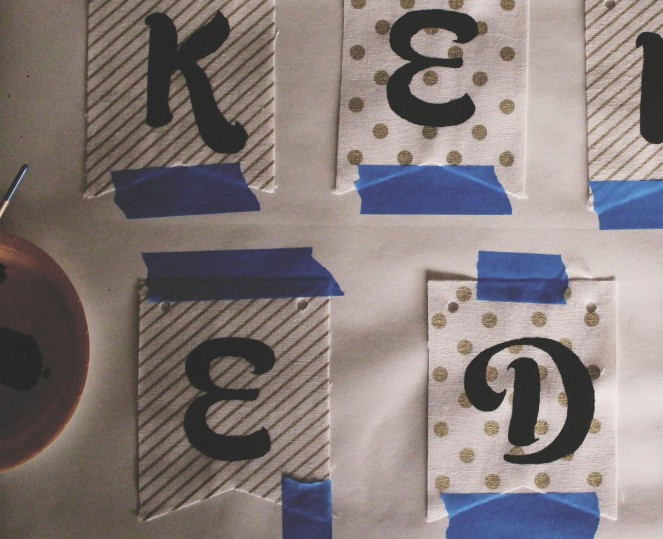 {creating personalized bunting} finished