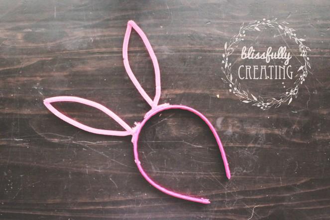 {creating bunny ears} ears