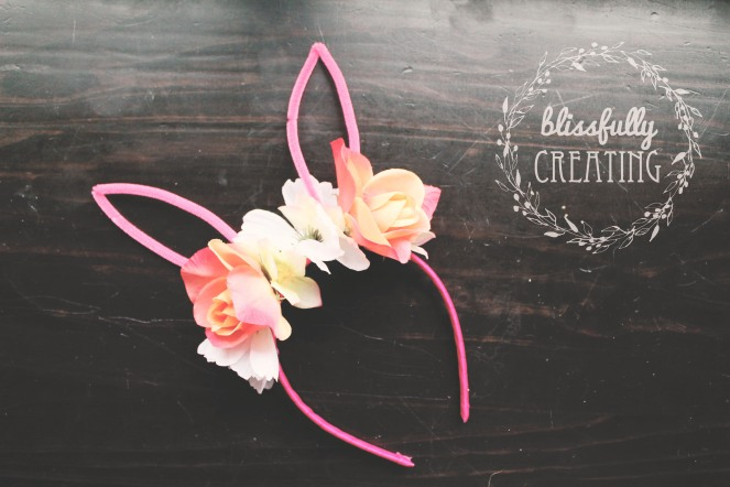 {creating bunny ears} finished