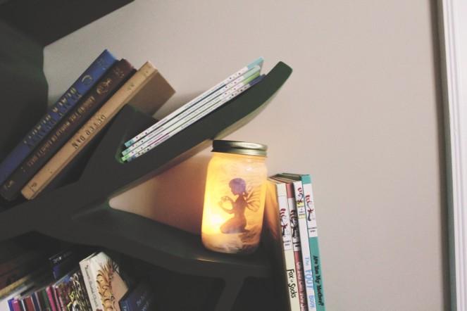 {creating a fairy lantern} lit lantern