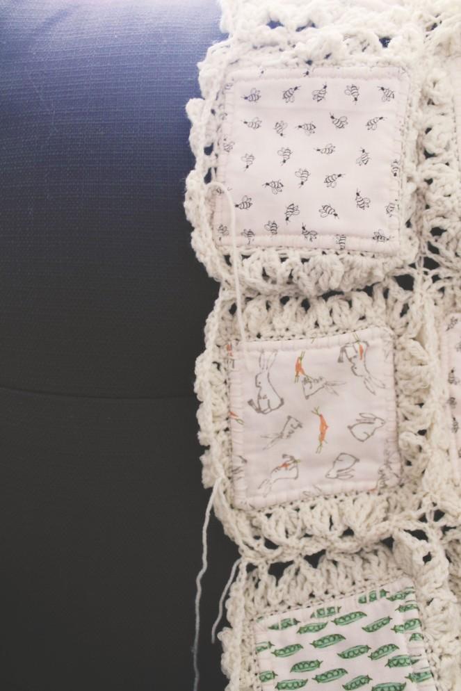 {creating a baby blanket} rough edge