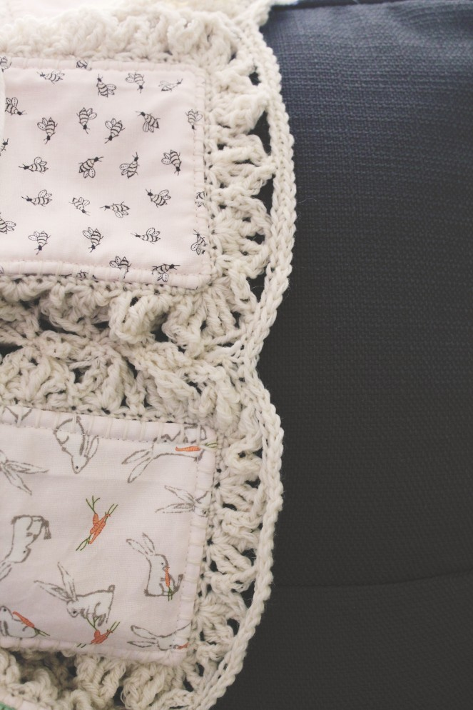 {creating a baby blanket} smooth edge