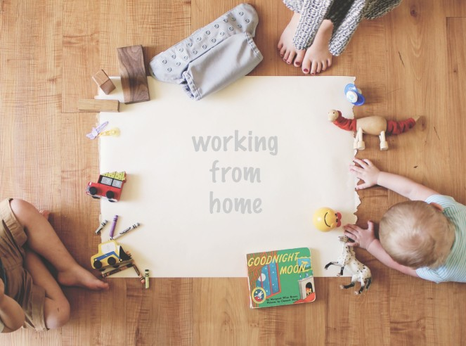 {manic mom-days}working from home