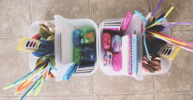 {craft time caddy} filled up