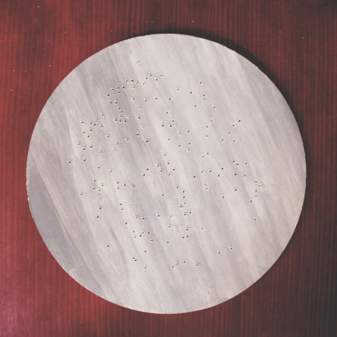 {creating a starry night} drilled holes