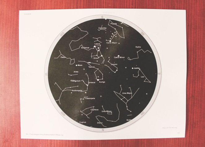 {creating a starry night} star map