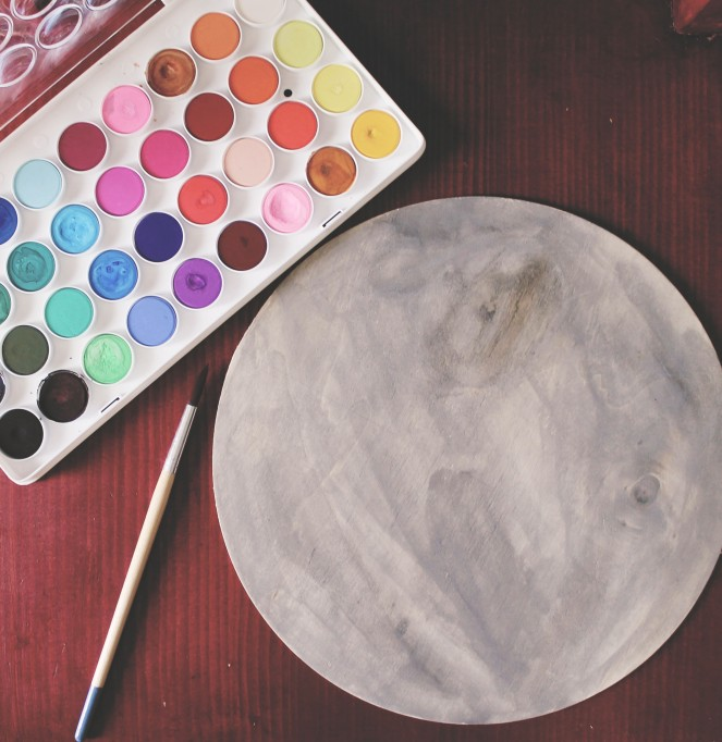 {creating a starry night} water colors