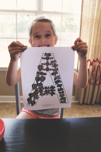 {creating alphabet fun} A for airplane