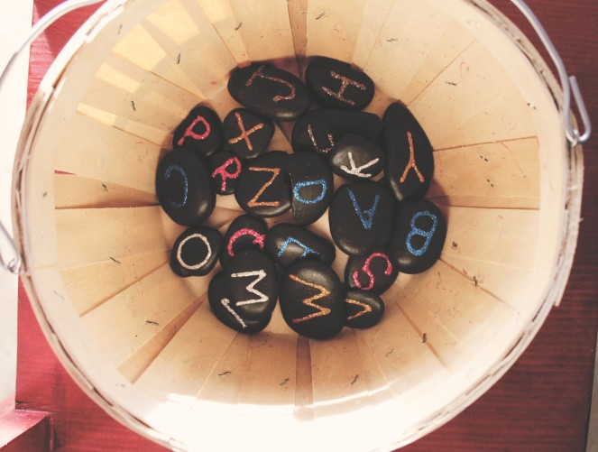 {creating alphabet fun} letter rocks