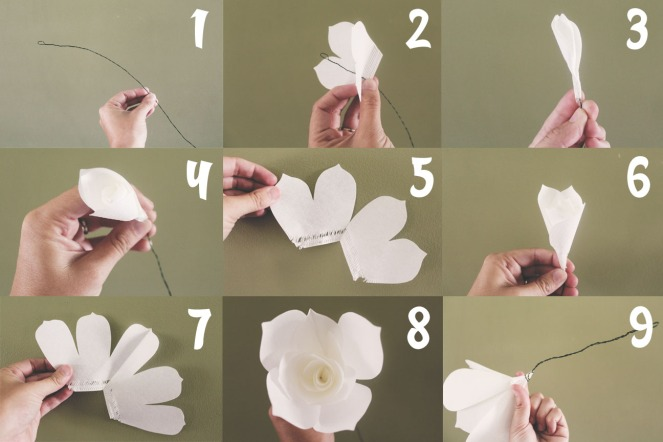 {quick crafts} coffee filter roses - how to