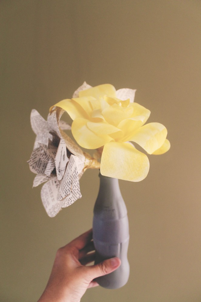 {quick crafts} coffee filter roses1