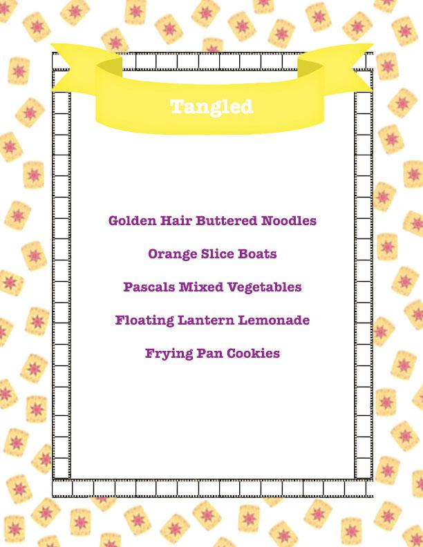 tangled menu