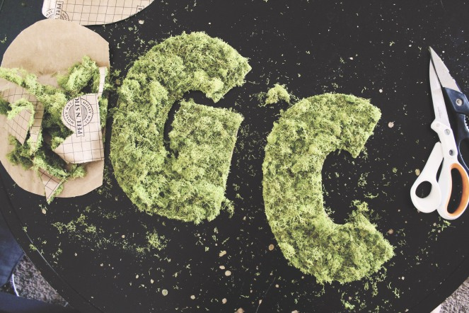 {quick crafts} mossy letter3